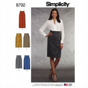 8792 Simplicity Pattern: Misses' Skirts
